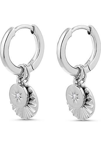 Guido Maria Kretschmer Damen-Creolen Guido Maria Kretschmer 925er Silber 2 Diamant One Size Silber 32012788