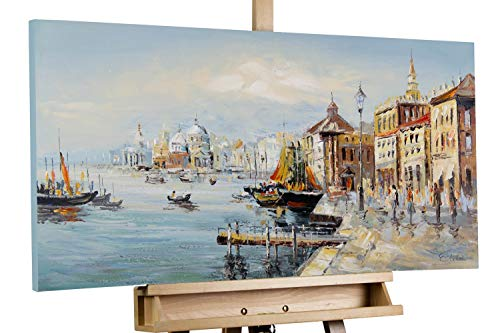 KunstLoft® Acryl Gemälde 'Mein Traum von Venedig' 100x50cm handgemalt Leinwand Bild