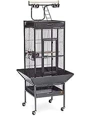 BLACK BIRD CAGE FOR LARGE PARROTS (82X77X165 CM)