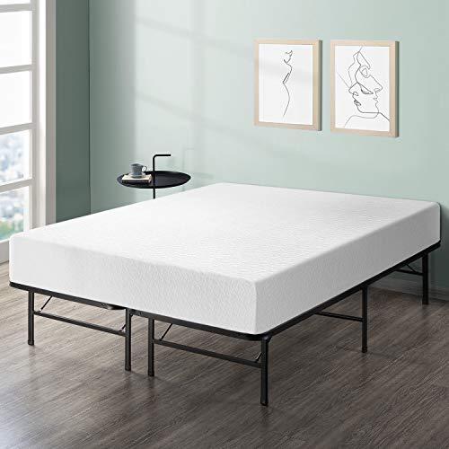 "Best Price Mattress 12"" Comfort Premium Memory Foam Mattress and Bed Frame Set, Queen"