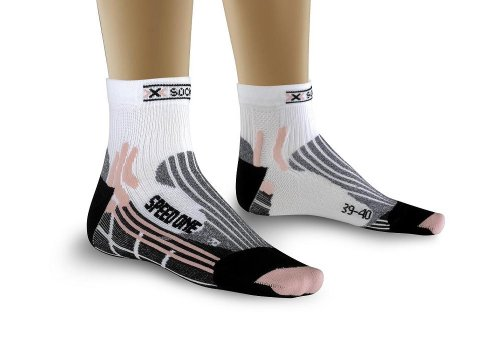 X-Socks Speed One Lady Chaussettes Femme, Blanc, 37-38