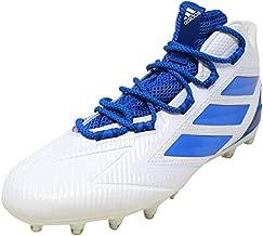 adidas Men's Freak Carbon Mid Football Shoe, White/Blue, 13