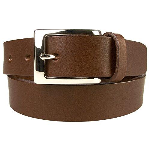 Belt Designs (BD-0024-30) Taille 117-127 cm (XXL) – Marron Ceinture en cuir de qualité pour Homme - Fabriqué au Royaume-Uni