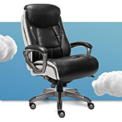 """Made of Black bonded leather with contrast stitching Product dimensions – 30"""" D x 26.75"""" W x 43""""-45"""" H 