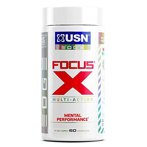 USN Focus X Nootropic for Mental Performance, Keto Friendly, 60 Caps