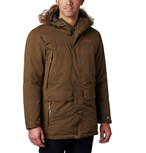 Columbia Men's South Canyon Long Down Parka, Olive Green, Large Tall