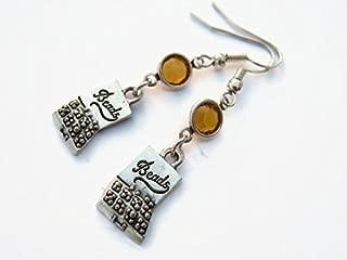 Bead Box Birthstone Earrings, Personalized Jewelry Designer Earrings, DIY Crafter Jewelry