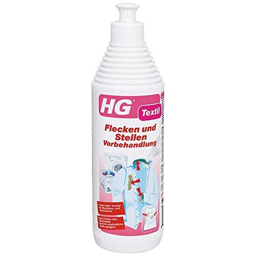 HG Flecken und Stellen Vorbehandlung 500 ml – ist das ultimative Fleckenspray zur Vorbehandlung, das Ihre Kleidung makellos reinigt
