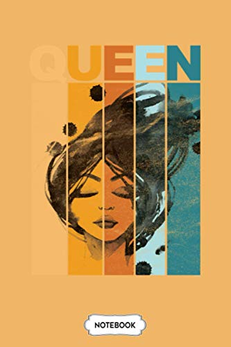 Queen Women Black Queen Vintage Retro Notebook: Planner, Diary, Journal, 6x9 120 Pages, Matte Finish Cover, Lined College Ruled Paper