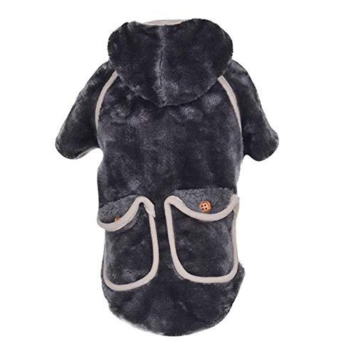 Bhu Warme Hundekleidung für den Winter, mit zwei Taschen, Haustierkleidung, modisch,...