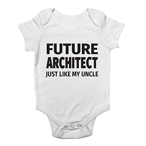 Promini Pelele para bebé de una sola pieza con diseño de arquitecto del futuro como mi tío