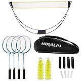 HIRALIY Complete Badminton Set,...