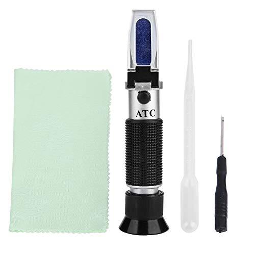 Akozon Brix Refraktometer, RZ120 Handheld Refraktometer Zucker Tester für Bier Wein Fruchtsaft Automatische Temperaturkompensation 0-32% Spezifisches Schwerkraft-Hydrometer mit ATC