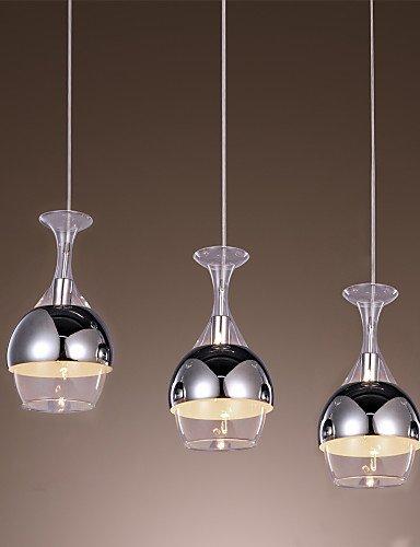 GXS/ creativo colgante 3 luz de estilo francés en forma de copa , 110-120v