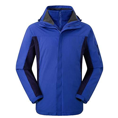 Outdoor Waterdichte Jas Lichtgewicht Softshell Regenjas Outdoor bergbeklimmen kleding, Twee Sets van Winddicht Waterdicht Mannen en Vrouwen, Blue_XXL