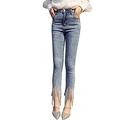 HOSDJeans Skinny High Waist Stretchy Jeans for Women Ankle Elastic Denim Pencil Pants Blue by HOSD