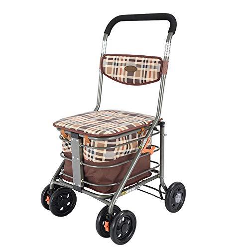 QINAIDI Ayudante para Caminar de 300 LB de pie, Movilidad del Caminante, Andador Giratorio de Postura Vertical con Asiento,3