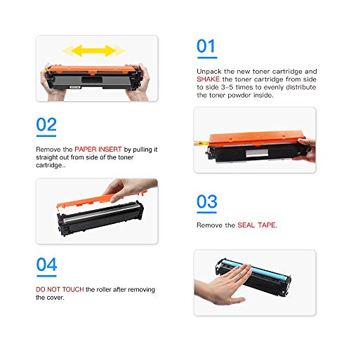 LxTek Compatible Toner Cartridge Replacement for HP 17A CF217A to use with Laserjet Pro M102w M130fw, Laserjet Pro MFP M130fw M130nw M130fn M130a Printer,(4 Black), High Yield(with Chip)