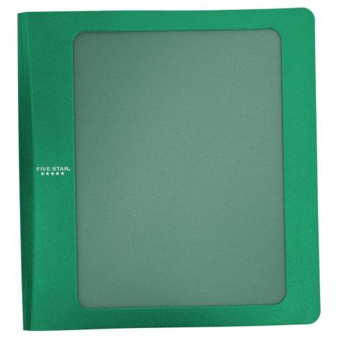 Five Star 1-1/2 Inch 3 Ring Binder, View Binder, Customizable, Green (72419)