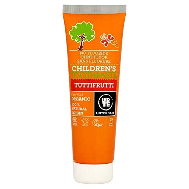 独特の沿って一見[Urtekram] Urtekram子供のトゥッティフルッティの歯磨き粉75ミリリットル - Urtekram Children's Tutti Frutti Toothpaste 75ml [並行輸入品]
