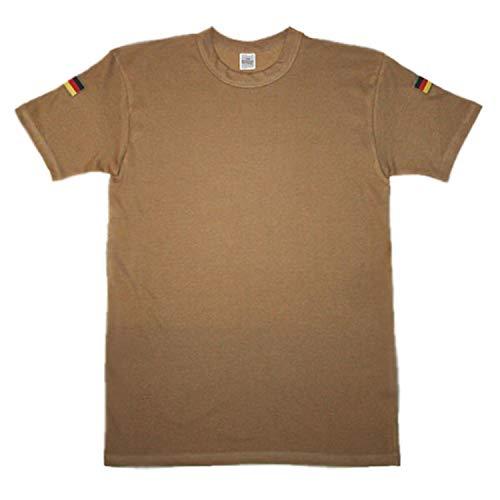 Original BW Tropen Shirt Bundeswehr Tropenhemd Unterhemd Auslandseinsatz ISAF KFOR Hoheitsabzeichen Ärmel Fahne Flagge KSK #14230, Größe:3XL, Farbe:Sand