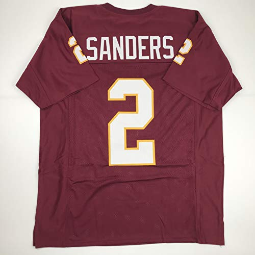 Unsigned Deion Sanders Florida State Maroon Custom Stitched College Football Jersey Size Men's XL New No Brands/Logos