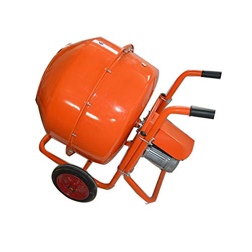 TECHTONGDA Electric Concrete Cement Mixer Mortar Mixing Stucco Seeds Portable Barrow Machine 110V 160L 2.2KW