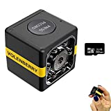 Spy Camera Wireless Hidden Camera Mini HD1080P with Night Vision and Motion Detection Auto-Induction Security Surveillance Camera for Home Office Car Warehouse Garden Nanny Cam with 32GB Card Included