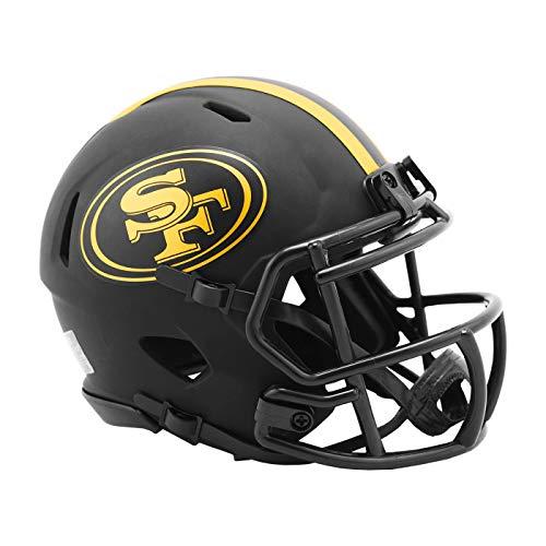 Riddell San Francisco 49ers 2020 Black Revolution Speed Mini Football Helmet