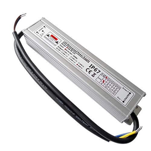VARICART Activador Resistente al Agua LED IP67 12V 5A 60W, Ultra Fino Universal Potencia Conmutable AC DC, Transformador de Voltaje Constante Adaptador para CCTV G4 MR16 GU5.3 Bombilla (Pack d