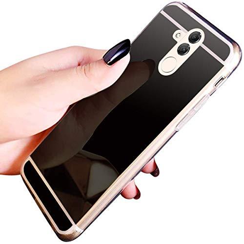 Jinghuash beschermhoes voor Huawei Mate 20 Lite, spiegel zwart.