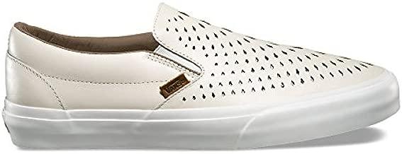 Vans Men Classic Slip-On Dx - Havana Perforated Leather White
