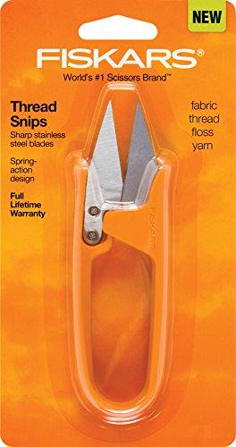 Fiskars Thread Snip Scissors, Gray Orange