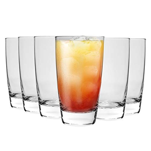 Bormioli Rocco Nadia Highball Verres à Cocktail Set - 455ml (15 1/2 oz) - Paquet de 8