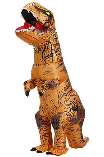 Adults Tyrannosaurus Rex Inflatable Costume Fancy Dinosaur Suit Blow up Jumpsuit Halloween Cosplay...