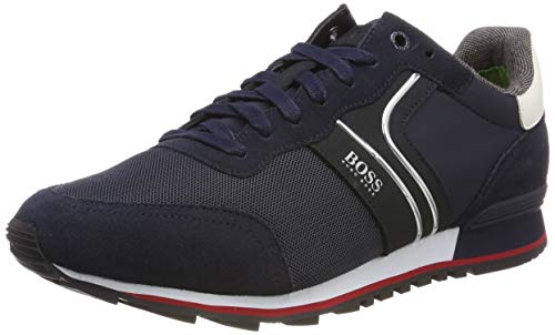BOSS Herren Parkour_Runn_Nymx2 Sneaker, Blau (Dark Blue 401), 39 EU