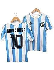 LICHENGTAI Maglia Maradona, Maglia DellArgentina 1986, Maglia Maradona Argentina, retrò Vintage Argentina 1986 Maradona 10 Maglia da Calcio, Maglia Argentina 1986 (S)