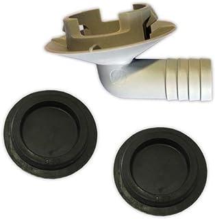 DOJA Industrial | Codo para desague condensados de A.A. | Acoplamientos Tubo diámetro16, Orificio Bandeja diámetro32 + Juntas