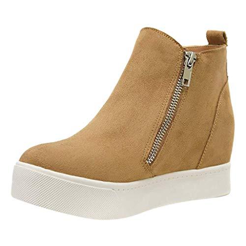 Zapatos Planos para Mujer con Cremallera Casual Botines