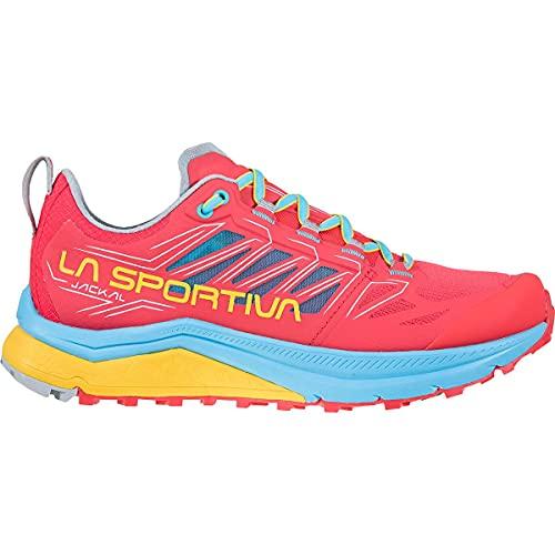LA SPORTIVA Jackal Woman, Zapatillas de Trail Running Mujer, Hibiscus/Malibu Blue, 40.5 EU