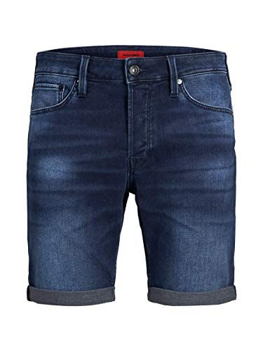 JACK & JONES Male Jeansshorts Rick Icon GE 011 SBlue Denim
