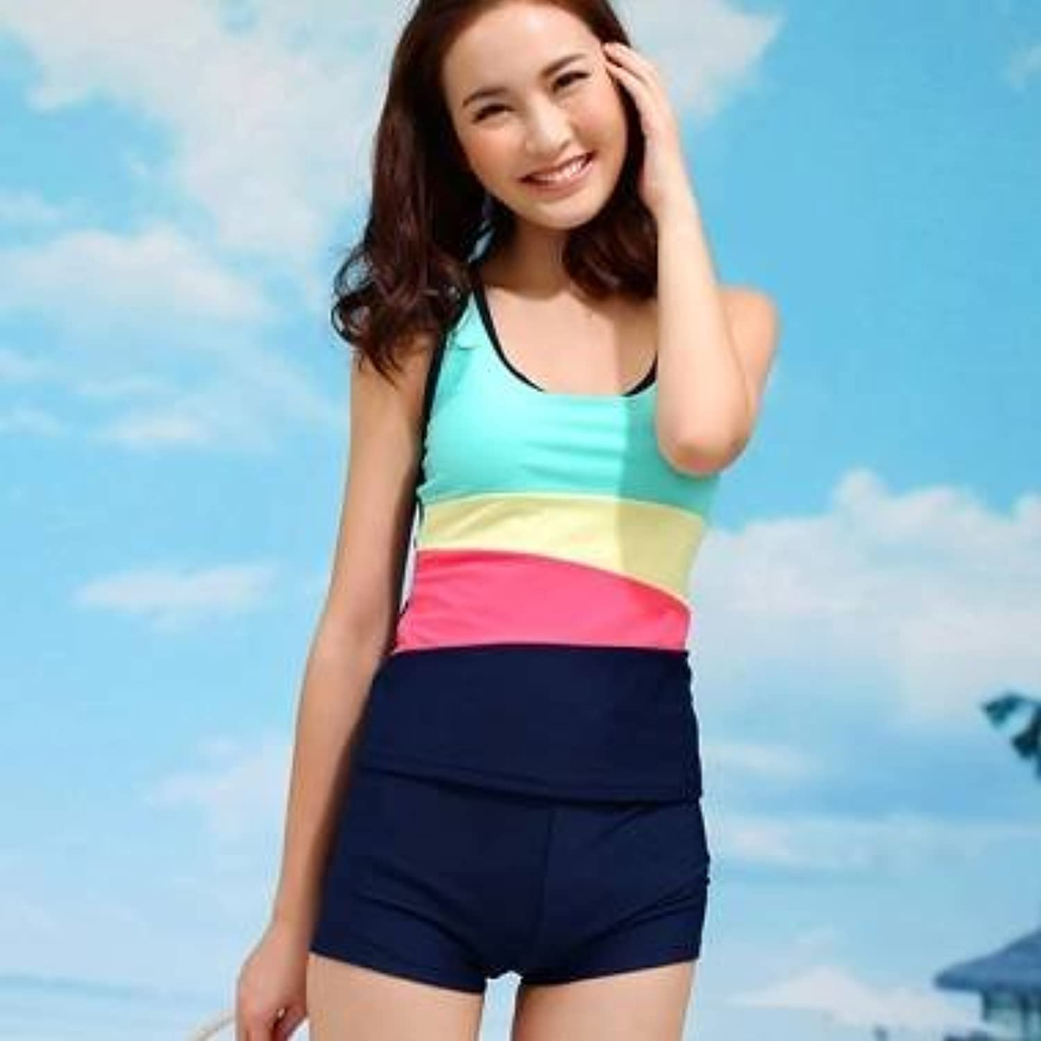 BST Rainbow Stripe Swimwear Sport Bathing Suit Swimsuit