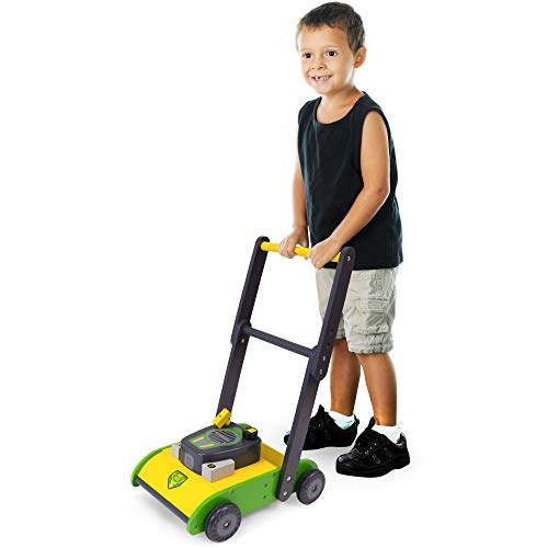 Product Image of the Push-Along Wooden Lawn Mower | Classic Kid-Powered Fun for Indoor & Outdoor Play...