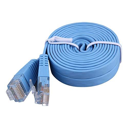 MXECO 2M Länge Wohnung Absehen RJ45 CAT6 8P8C Ethernet Patch Netzwerkkabel Tragbare Lan-Kabel Durable Startseite Parvicostellae (blau)