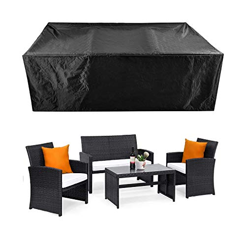 """Patio Furniture Set Cover Outdoor Sectional Sofa Set Covers Outdoor Table and Chair Set Covers Water Resistant 78"""" L x 62"""" W x 30"""" H"""