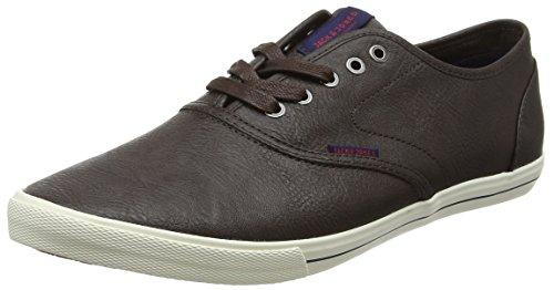 JACK & JONES Jfwspider PU Sneaker, Zapatillas Hombre, Marrón (Java), 41 EU