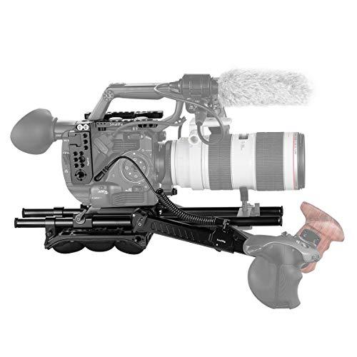 SMALLRIG FS5 Rig Kit, Zubehör Kit mit Top Platte, Grundplatte, Schulterpolster, Rosettenarm und 15mm Rod für Sony FS5-2007