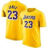 Camiseta NBA Lakers Lebron Raymone James Urban Manga Corta B-L