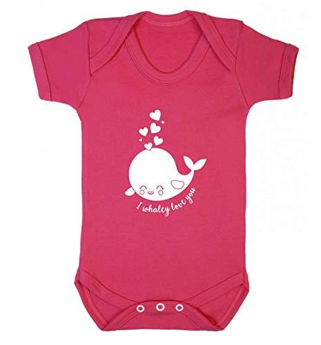 Flox Creative Baby Vest I Whaley Love You Rosa Scuro Neonato