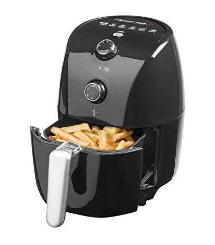 Bestron hetelucht-friteuse, PrepAir-technologie, automatische uitschakeling, 1,5 liter, 900 watt, zwart
